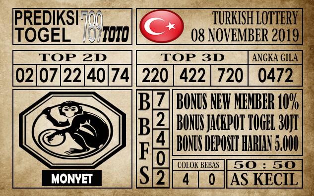 Prediksi Turkish Lottery 08 November 2019