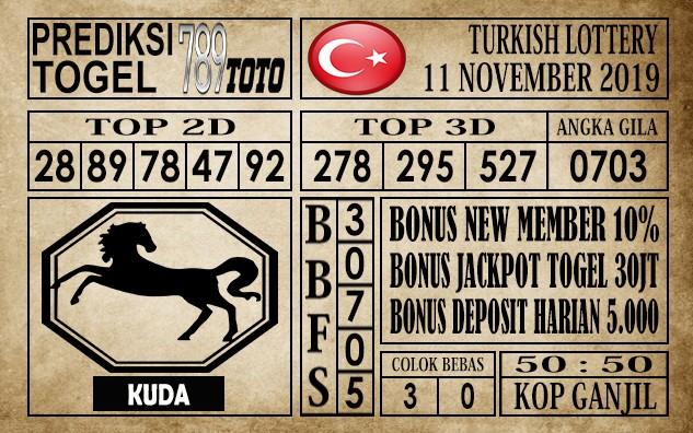 Prediksi Turkish Lottery 11 November 2019