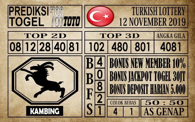 Prediksi Turkish Lottery 12 November 2019
