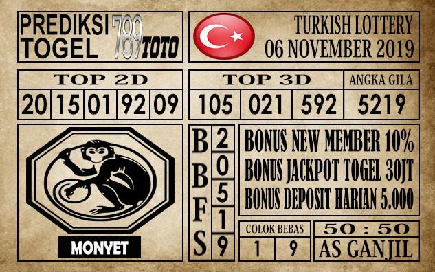Prediksi Turkish Lottery 06 November 2019