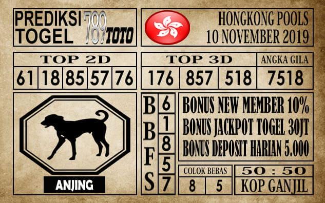 Prediksi Hongkong Pools 10 November 2019