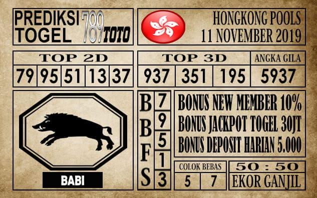 Prediksi Hongkong Pools 11 November 2019