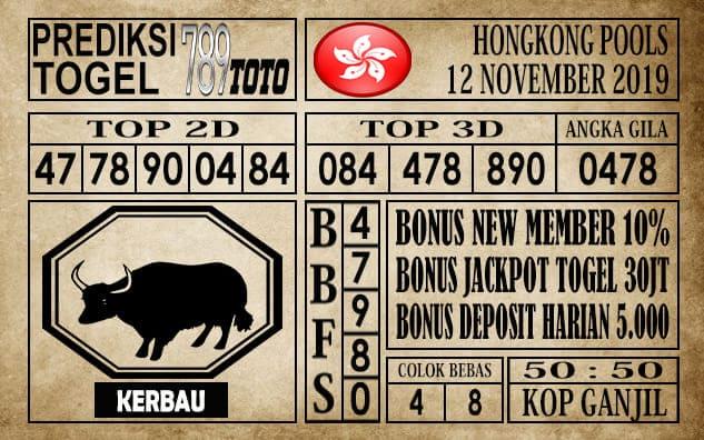 Prediksi Hongkong Pools 12 November 2019