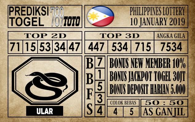 Prediksi Filipina PCSO Hari Ini 10 Jan 2020