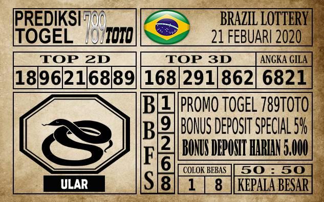 Prediksi Brazil Lottery Hari ini