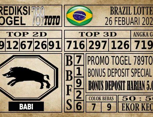 Prediksi Brazil Lottery Hari Ini 26 Feb 2020
