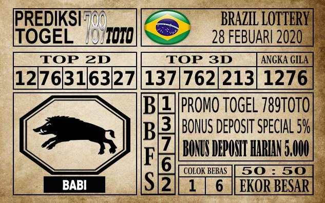 Prediksi Brazil Lottery Hari Ini 28 Feb 2020
