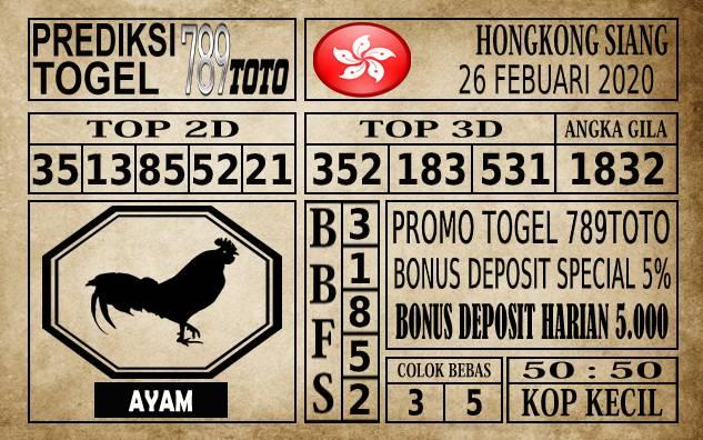 Prediksi Hongkong Siang Hari Ini 26 Feb 2020