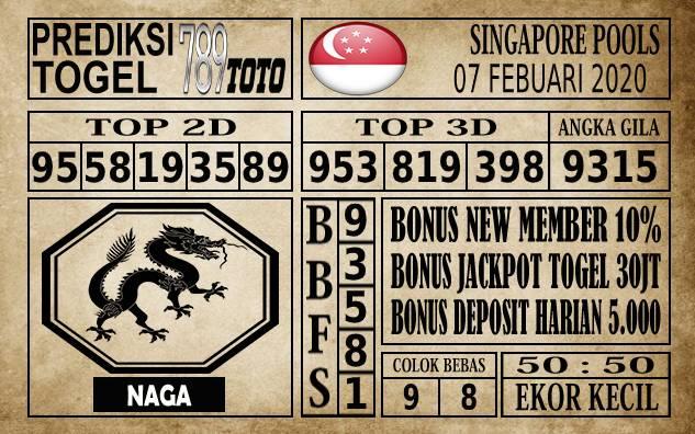 Prediksi Singapore Pools Hari ini