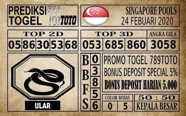 Prediksi Singapore Pools Hari ini 24 Feb 2020