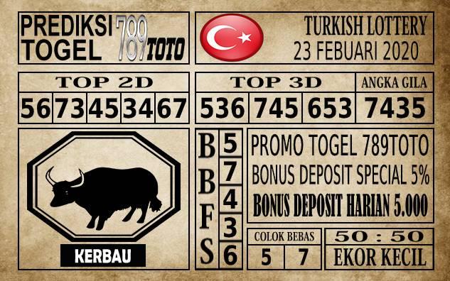 Prediksi Turkish Lottery Hari Ini 23 Feb 2020
