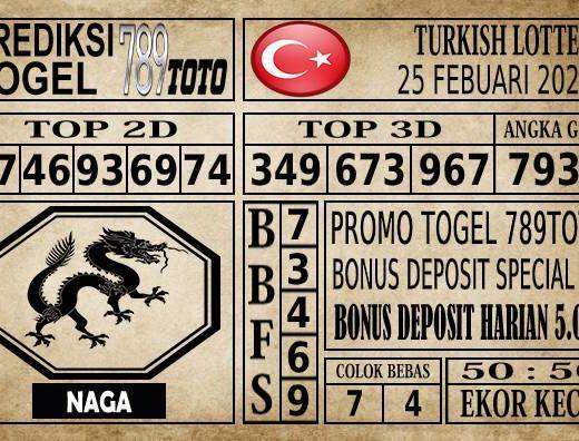 Prediksi Turkish Lottery Hari Ini 25 Feb 2020