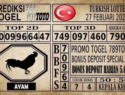 Prediksi Turkish Lottery Hari Ini 27 Feb 2020