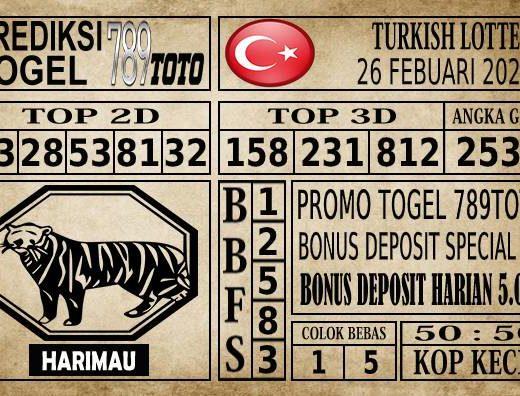 Prediksi Turkish Lottery Hari Ini 26 Feb 2020