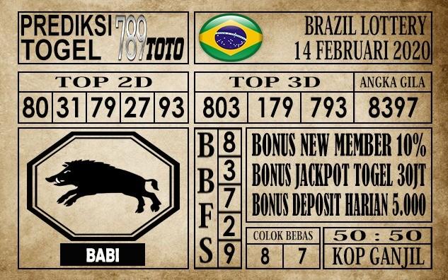 Prediksi Brazil Lottery Hari Ini 14 Feb 2020 » PREDIKSI BEBAS