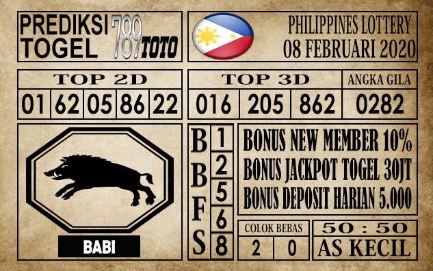 Prediksi Filipina PCSO Hari Ini 08 Feb 2020