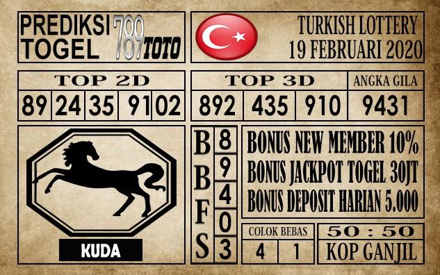 Prediksi Turkish Lottery Hari ini 19 Feb 2020