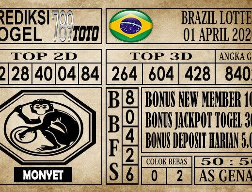 Prediksi Brazil lottery 01 April 2020