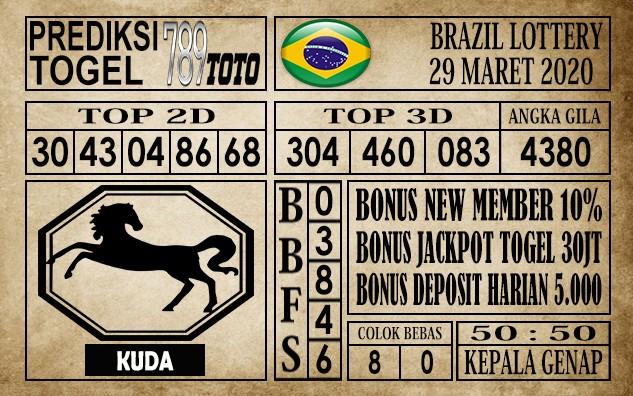 Prediksi Brazil lottery 29 Maret 2020