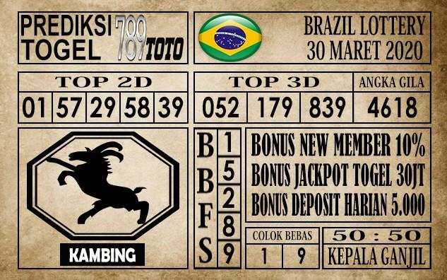 Prediksi Brazil Lottery 30 Maret 2020