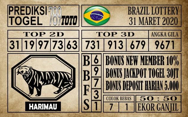 Prediksi Brazil Lottery 31 Maret 2020