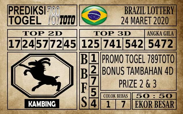 Prediksi Brazil Lottery Hari Ini 24 Mar 2020