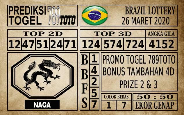 Prediksi Brazil Lottery Hari Ini 26 Mar 2020