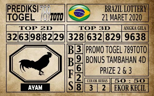 Prediksi Brazil Lottery Hari Ini 21 Mar 2020
