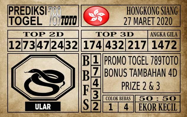 Prediksi Hongkong Siang Hari Ini 27 Mar 2020