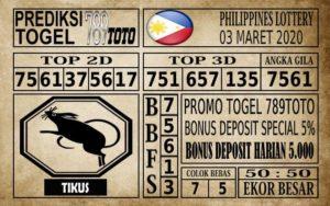 Prediksi Filipina PCSO Hari Ini 03 Mar 2020