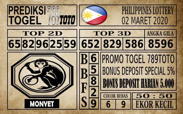 Prediksi Filipina PCSO Hari Ini 02 Mar 2020