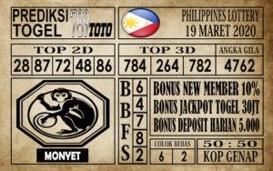 Prediksi Filipina PCSO Hari Ini 19 Mar 2020
