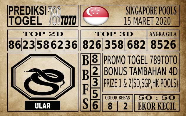 Prediksi Singapore Pools Hari ini 15 Mar 2020