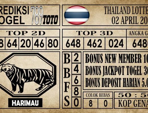 Prediksi Thailand Lottery 02 April 2020