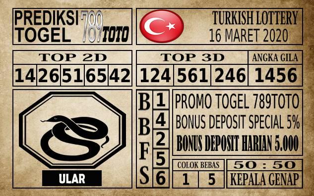 Prediksi Turkish Lottery Hari Ini 16 Mar 2020