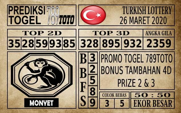 Prediksi Turkish Lottery Hari Ini 26 Mar 2020
