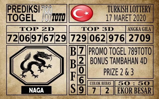 Prediksi Turkish Lottery Hari Ini 17 Mar 2020