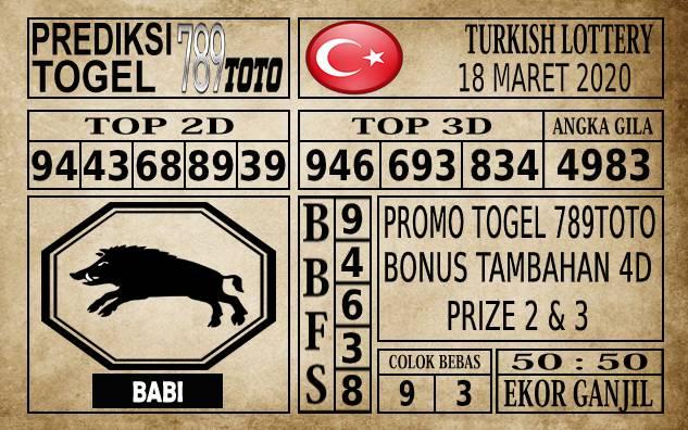 Prediksi Turkish Lottery Hari Ini 18 Mar 2020