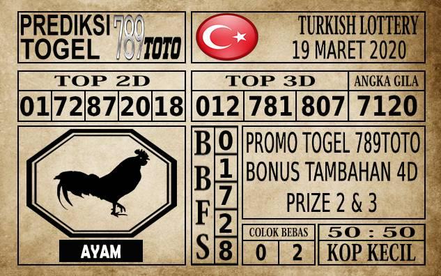 Prediksi Turkish Lottery Hari Ini 19 Mar 2020