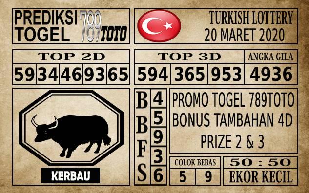 Prediksi Turkish Lottery Hari Ini 20 Mar 2020
