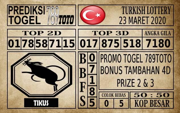 Prediksi Turkish Lottery Hari Ini 23 Mar 2020