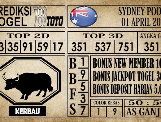 Prediksi Sydney pools 01 Maret 2020