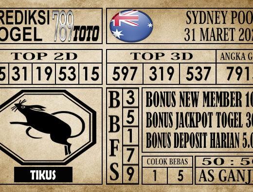 Prediksi Sydney pools 31 Maret 2020