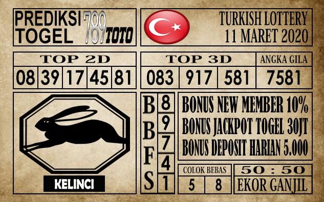 Prediksi Turkish Lottery Hari Ini 11 Mar 2020
