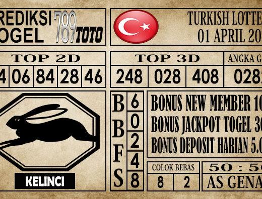 Prediksi Turkish Lottery 01 April 2020