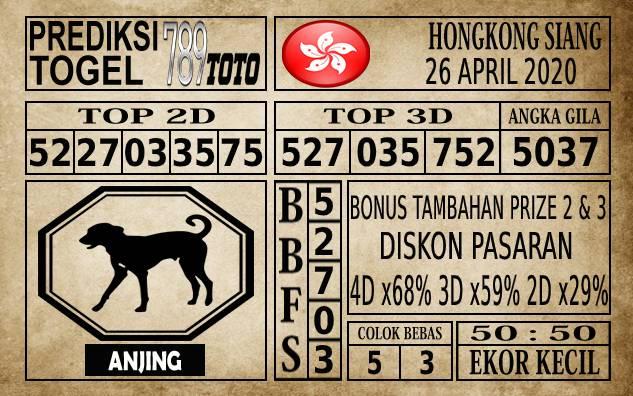 Prediksi Hongkong Siang Hari Ini 26 Apr 2020