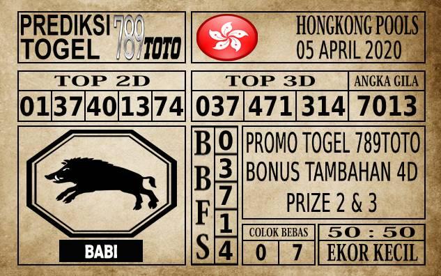 Prediksi Hongkong Pools Hari Ini 05 Apr 2020