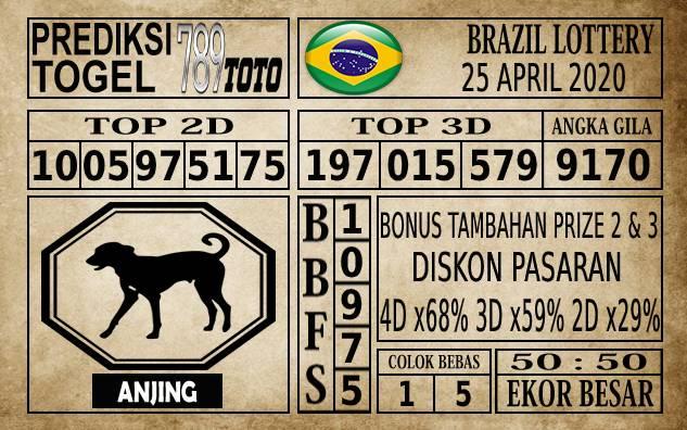 Prediksi Brazil Lottery Hari Ini 25 Apr 2020
