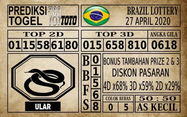 Prediksi Brazil Lottery Hari Ini 27 Apr 2020