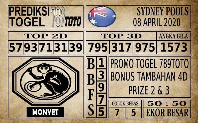 Prediksi Sydney Pools Hari Ini 08 Apr 2020